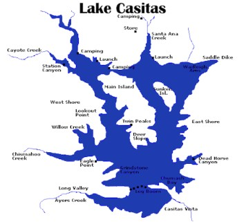 Lake casitas bass fishing guide lake casitas bass for Santa ana river lakes fishing tips